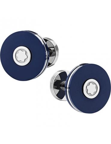 Gemelli Rotondi Montblanc PIX Blu