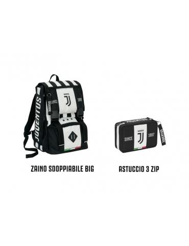 Schoolpack Seven Juventus League Zaino + Astuccio 3 Zip