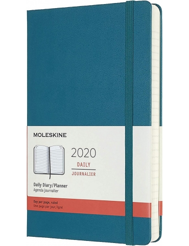 Agenda Moleskine 2020 Giornaliera 12 Mesi Large 13x21 - Copertina Rigida - Verde Magnetico