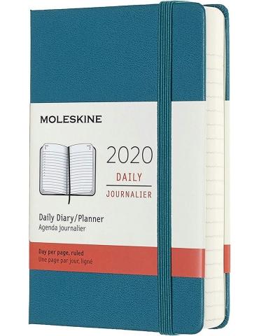 Agenda Moleskine 2020 Giornaliera 12 Mesi Pocket 9x14 - Copertina Rigida - Verde Magnetico