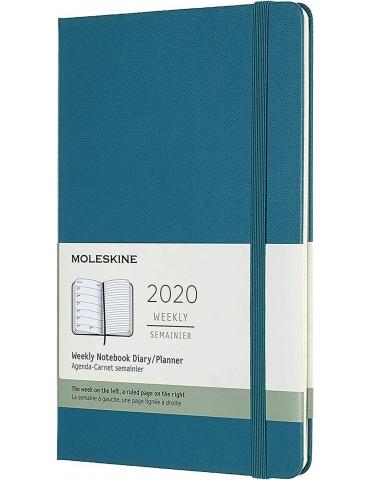 Agenda Moleskine 2020 Settimanale 12 Mesi Large 13x21 - Copertina Rigida - Verde Magnetico