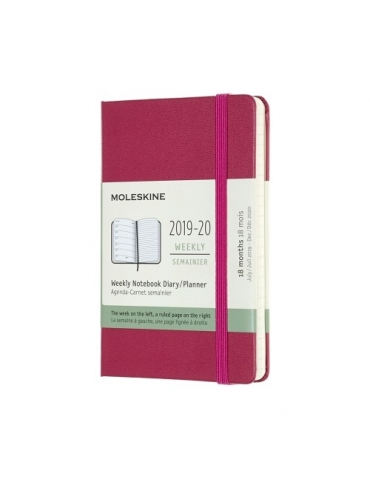 Agenda Moleskine 2020 Settimanale 12 Mesi Pocket 9x14 - Copertina Rigida - Rosa Snappy