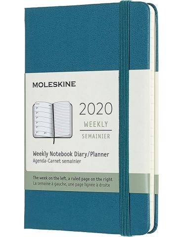 Agenda Moleskine 2020 Settimanale 12 Mesi Pocket 9x14 - Copertina Rigida - Verde Magnetico