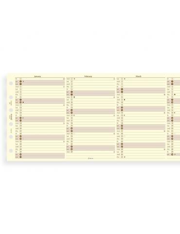Ricambio Agenda Filofax 2020 Planner Annuale - Formato Pocket - Inglese