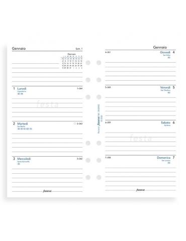 Ricambio Agenda Filofax 2020 Settimanale - Formato Personal - Italiano
