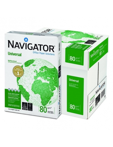 Risma Fotocopie Navigator Paper Bianca A4 - Scatola 5 Risme 500 Fogli
