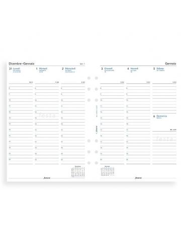 Ricambio Agenda Filofax 2020 Settimanale - Formato A5 - Italiano
