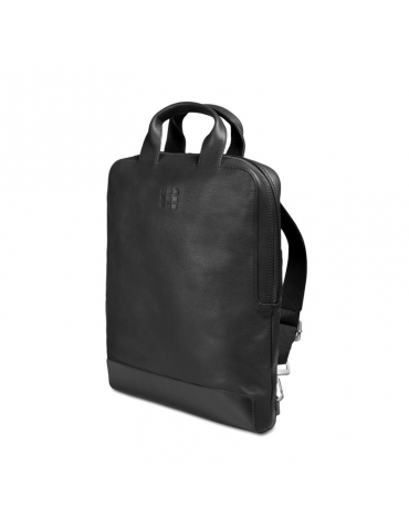 Borsa Moleskine Classic Leather Vertical Device Nero