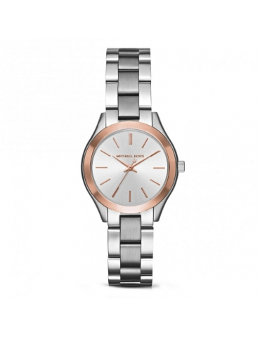 Orologio Michael Kors Donna Runway Mini Slim Rose Silver