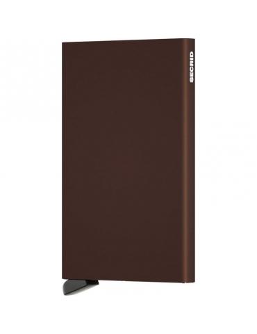 Portacarte Secrid Cardprotector Alluminio Brown
