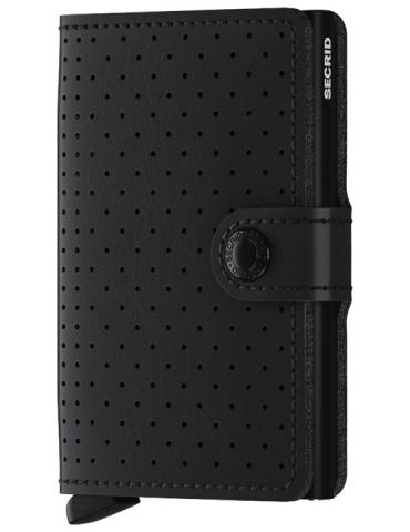 Portacarte Secrid Miniwallet Perforated Black