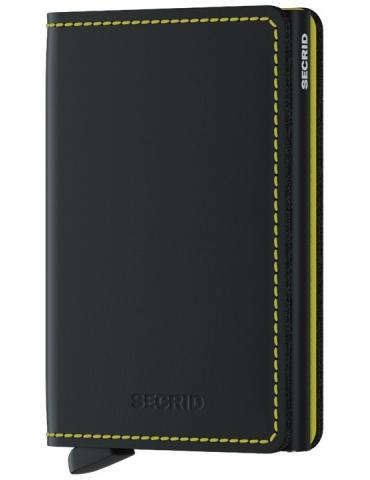 Portacarte Secrid Slimwallet Matte Black & Yellow