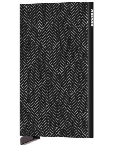 Portacarte Secrid Cardprotector Laser Structure Black