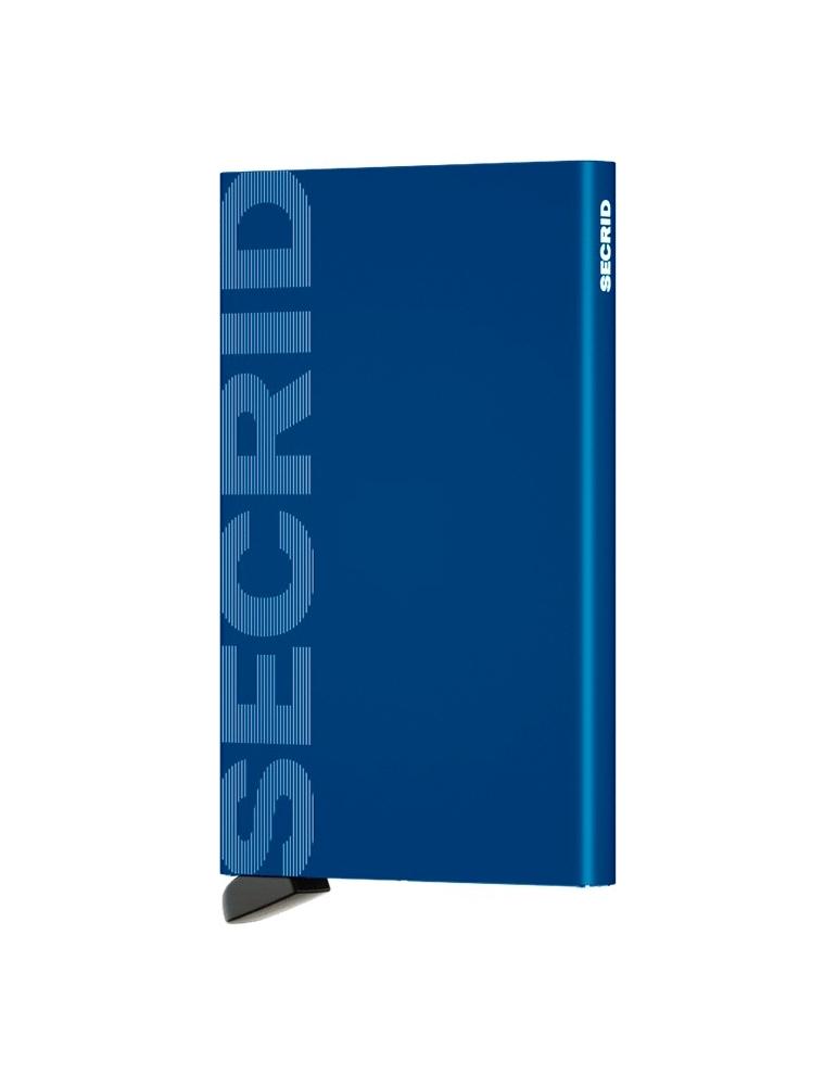 Portacarte Secrid Cardprotector Laser Logo Blue