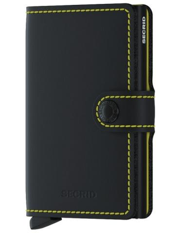 Portacarte Secrid Miniwallet Matte Black & Yellow