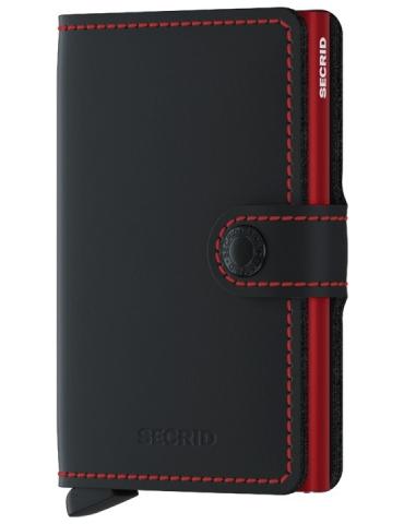 Portacarte Secrid Miniwallet Matte Black & Red