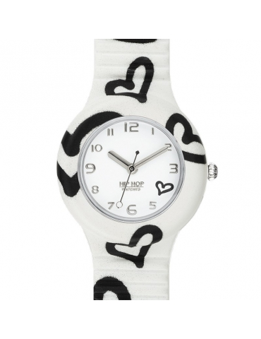 Orologio Hip Hop Donna Be Loved White