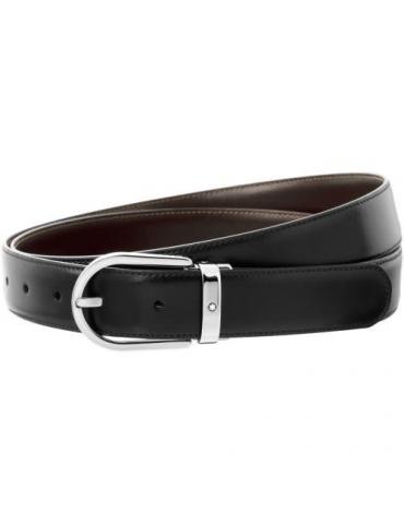 Cintura Uomo Montblanc Reversibile Nera/Marrone