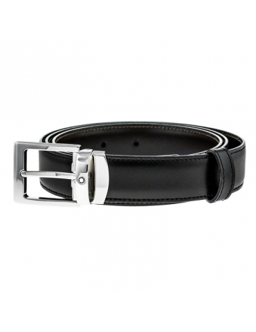 Cintura Montblanc Classic Line Reversibile Nera/Marrone