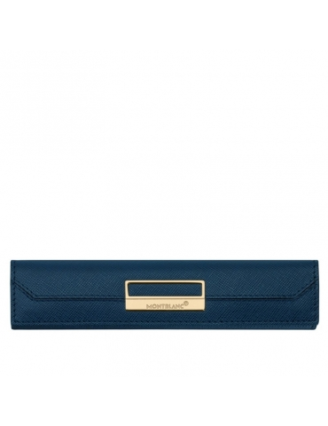 Portapenna Montblanc Sartorial Pelle 1 Strumento Blu