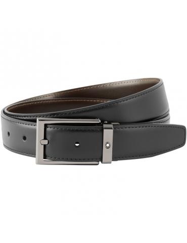 Cintura Montblanc Reversibile Nera/Marrone