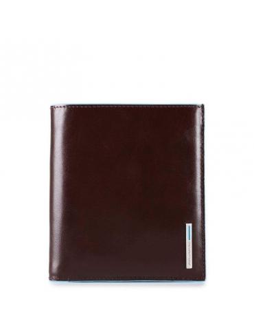 Portafoglio Piquadro uomo verticale con scomparti per banconote e carte di credito PU3247B2 - Mega 1941
