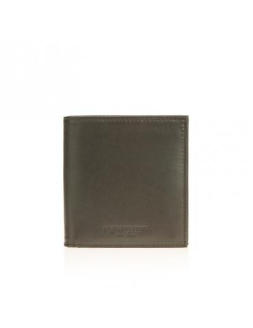 Portafoglio Quadrato Spalding & Bros Shiny 10 Scomparti Testa di Moro