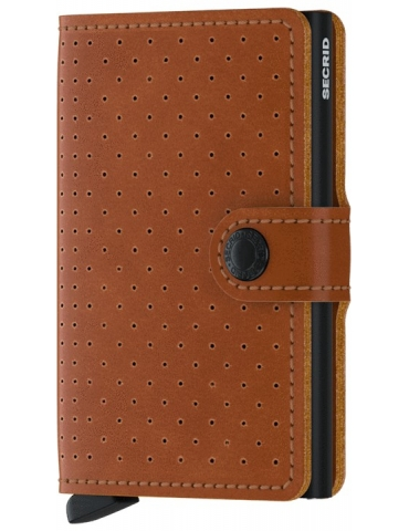 Portacarte Secrid Miniwallet Perforated Cognac