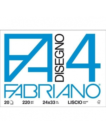 Album da Disegno Fabriano F4 597 Liscio 24x33
