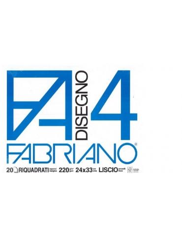 Blocco Fabriano F4 597 Liscio Riquadrato 24x33 2- Mega 1941