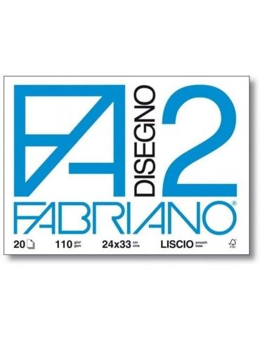 Blocco Fabriano F2 516 Liscio 24x33 211 - Mega 1941