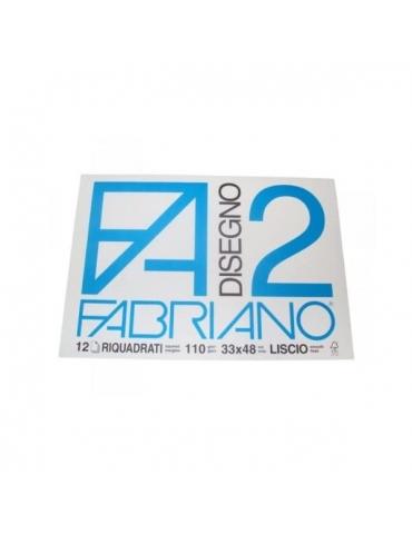 Blocco Fabriano F2 534 Riquadrato Liscio 33x48 216- Mega 1941