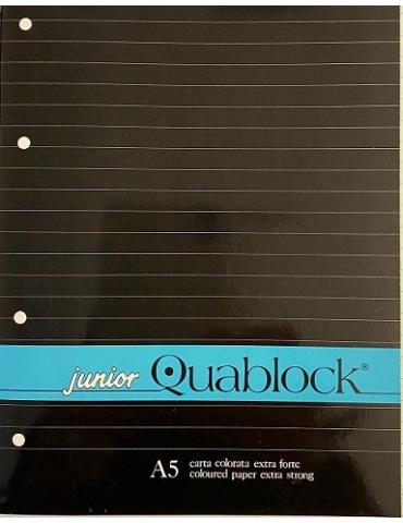 Ricambio Quablock A5 Fogli a Buchi 1 RIGO 80 Gr. colore azzurro