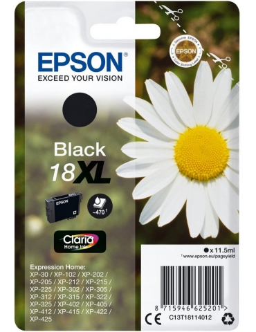 Cartuccia Stampante Epson 18XL Nero