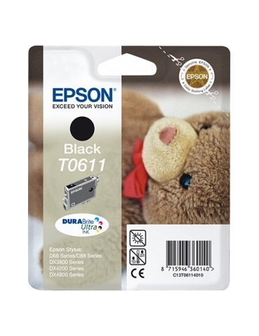 Cartuccia Stampante Epson T0611 Nero
