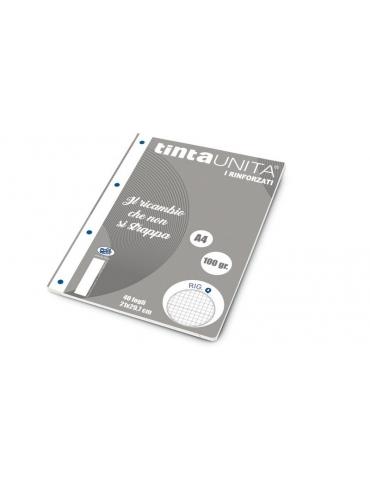 Ricambio Pool Fogli a Buchi A5 Rinforzati Quadretti 5mm con Margine 100 Gr. 5 Confezioni da 40 Fogli