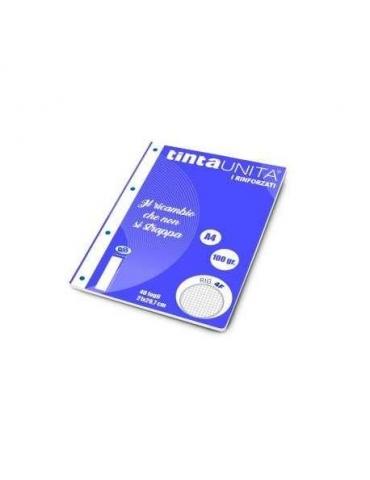 Ricambio Pool Fogli a Buchi A5 Rinforzati Quadretti 4mm con Margine 100 Gr. 5 Confezioni da 40 Fogli
