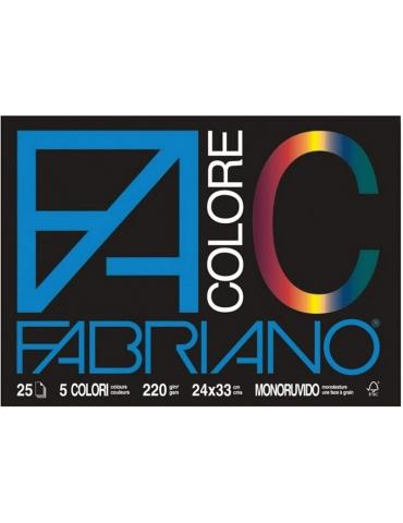 Album da Disegno Fabriano Colore Monoruvido 5 Colori 24x33