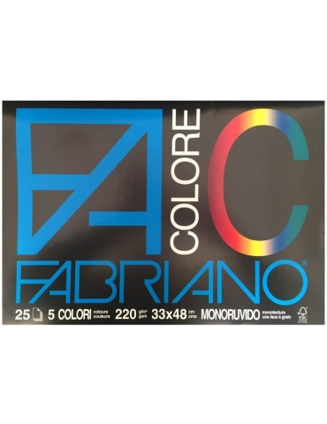 Album da Disegno Fabriano Colore Monoruvido 5 Colori 33x48