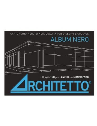 Album Nero Architetto Monoruvido 24x33 cm