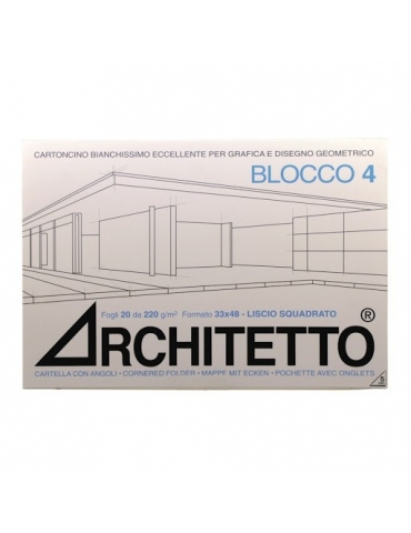 Album da Disegno Architetto F4 Liscio Squadrato 24x33 cm