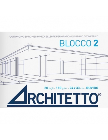 Album da Disegno Architetto F2 Liscio Squadrato 24x33 cm