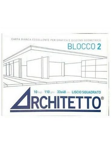 Album da Disegno Architetto F2 Liscio Squadrato 33x48 cm