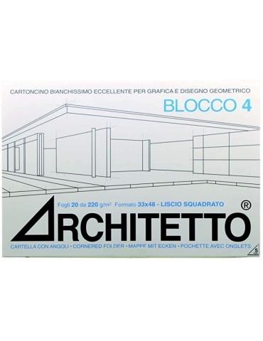 Album da Disegno Architetto F4 Liscio Squadrato 33x48 cm