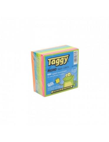 Blocco Adesivo Taggy 76x76 Colore Neon