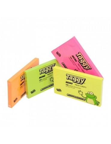 Blocco Adesivo Taggy 125x75 Colore Neon Conf. 12 Pezzi
