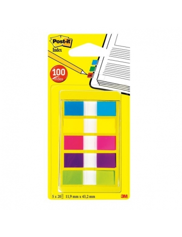 Segnapagina Post-It 3M 5 Colori 11x43