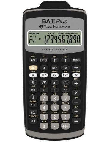 Calcolatrice Finanziaria Texas Instruments BA-II-PLUS