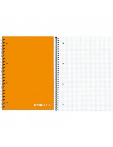 Quaderno Spiralato Tinta Unita con Fori Quadretti 4MM A4