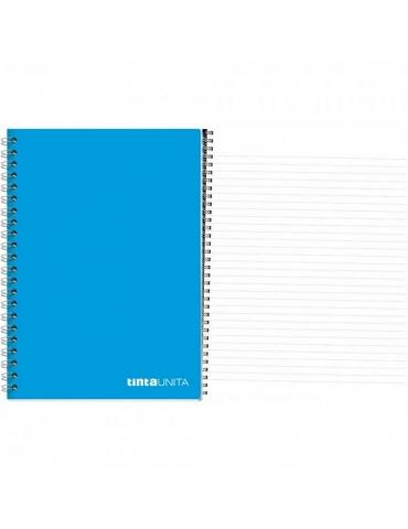 Quaderno Spiralato Tinta Unita Senza Fori Righe 1R A4